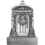 Engravable New Home Pewter Ornament