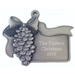 Personalized Pine Cone ornament