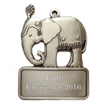 Personalized Elephant ornament