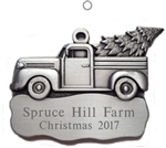 Engraved Pickup Truck Pewter Ornament