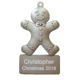Personalized Gingerbread Man Ornament