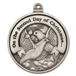 Engravable Second Day of Christmas Ornament