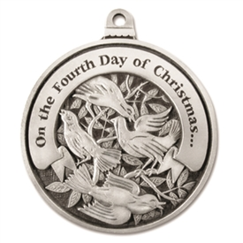 Engravable Fourth Day of Christmas Ornament
