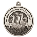 Engravable Sixth Day of Christmas Ornament