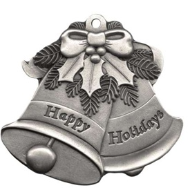 Engravable Holiday Bell Pewter Christmas Ornament
