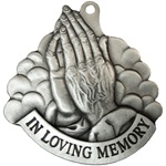 Praying Hands Memorial Pewter Ornament