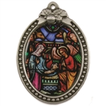 Personalized Stained Glass Nativity Ornament