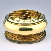 "Wholesale Brass Screen charcoal Burner - 3"" Diameter"