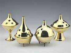 "Wholesale Brass Cone Burner - 3.5"" Height"