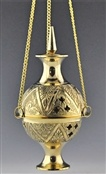 Wholesale Carved Brass Hanging Censer Burner