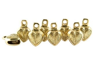 Wholesale Heart Brass Ghungroo Bells