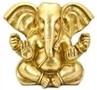 Lord Ganesh with Big Ear Brass Statue