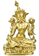Green Tara Brass Statue