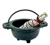 "CAL03<br><br> Cast Iron Cauldron - 2""H, 3""D (Small)"