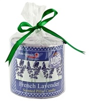 Auroshikha French Lavender Pillar Candle