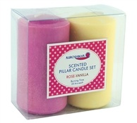 Auroshikha Rose & Vanilla Pillar Candle