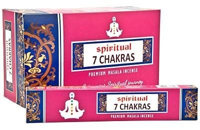 DP104 Spiritual 7 Chakras Incense - 15 Gram Pack (12 Packs Per Box)
