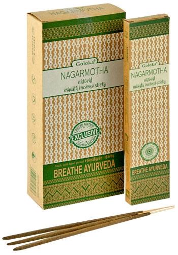 GL122 Goloka Nagarmotha Natural Masala Incense - 15 Gram Pack (6 Packs Per  Box)