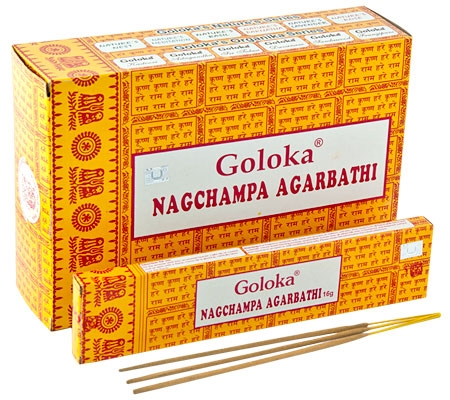 GOLOKA NAG CHAMPA Incense Sticks 16g Boxes 6