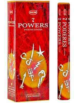 HM236B Hem 7 Powers Incense - 20 Sticks Pack (6 Packs Per Box)