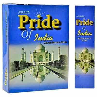 NK201 Nikhil Pride Of India Incense - 25 Gram Pack (12 Packs Per Box)