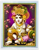 Wholesale Baby Krishna Art Poster