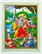 Wholesale Radha and Krishna Art Poster