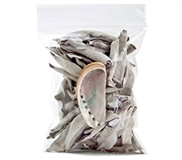 Wholesale White Sage Leaves and Abalone Set