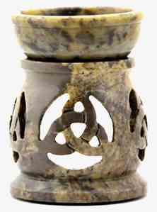 Stone Carved Triquetra Aroma Lamp