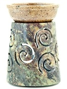 Wholesale Stone Carved Spiral Aroma Lamp
