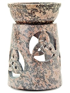 Wholesale Stone Carved Triquetra Aroma Lamp