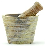 Stone Carved Mortar and Pestle