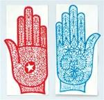"STE03<br><br> 12 Pieces Henna Tattoo Stencil Hand - 3.5""x8"""