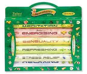 Wholesale Tulasi 6-in-1 Aromatherapy Incense Kit - 20 Sticks Hex Pack