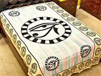 Wholesale Tapestry - Green Egyptian Eye Tapestry/Bedspread