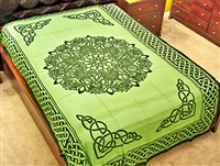 Wholesale Tapestry - Green Celtic Knot Zodiac Sign Tapestry/Bedspread