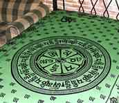 Wholesale Tapestry - Green Om Mani Chakra Tapestry/Bedspread
