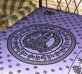 Wholesale Tapestry - Purple Om Mani Chakra Tapestry/Bedspread