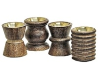 "WBR205<br><br> Assorted Designs Wooden Charcoal Burner 3"" H"