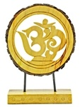 Wooden Om Symbol Table Decor
