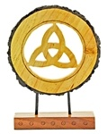 Wooden Triquetra Table Decor