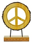 Wooden Peace Sign Table Decor