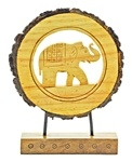Wooden Elephant Table Decor
