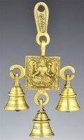 Laxmi Solid Brass Wall Hanging Chime with Seven Bells