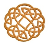 Wooden Celtic Knot Altar Tile