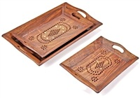 Wholesale Wooden Tray Set