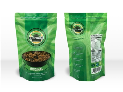 12 oz. Bag of Vegan, Gluten-Free and Non-GMO Original Granola.