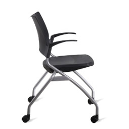 9to5 Bella 1320 Nesting Chairs ...  sc 1 st  Office Furniture Outlet & 9 to 5 Training Room Chair Bella series Nesting Chairs with Casters ...