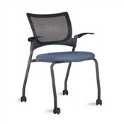 9to5 Bella Mesh 1365 Mesh Back Four Leg Guest Chair with Casters