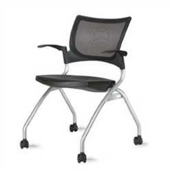 9to5 Bella Mesh1370 Mesh Back Nesting Chair with Casters